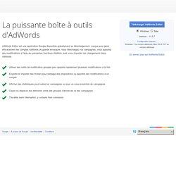 AdWordsEditor : install sur computer