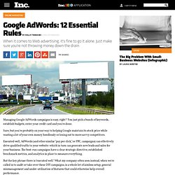 Google AdWords: 12 Essential Rules