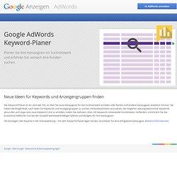 AdWords: Keyword-Tool