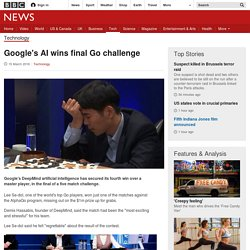 Google's AI wins final Go challenge
