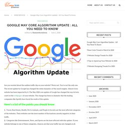 Google May Core Algorithm Update : All You Need To Know