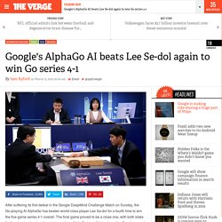 Google's AlphaGo AI beats Lee Se-dol again to win Go series 4-1