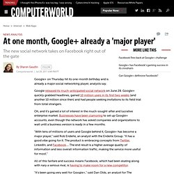At one month, Google+ already a 'major player'