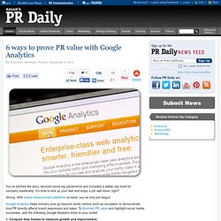 6 ways to prove PR value with Google Analytics