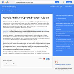 Google Analytics Opt-out Browser Add-on - Google Analytics Help