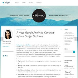 7 Ways Google Analytics Can Help Inform Design Decisions