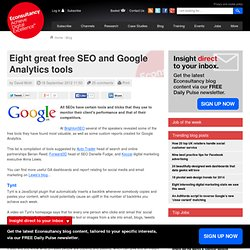 Eight great free SEO and Google Analytics tools