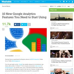 10 New Google Analytics Features You Need to Start Using