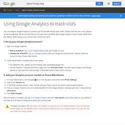 Using Google Analytics to track visits : Captions, Comments, and Tags - Picasa Help