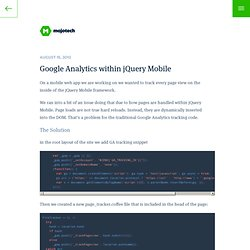 Google Analytics within jQuery Mobile