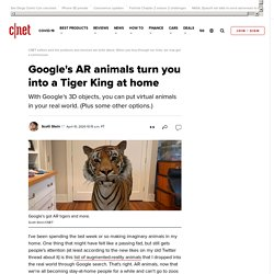 Google's AR animals turn you into a Tiger King at home