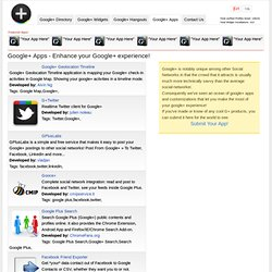 Google+ App Directory