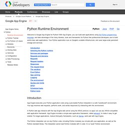 App Engine Python Overview - Google App Engine - Google Code