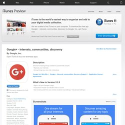 Google+ for iPhone 3G, iPhone 3GS, and iPhone 4 on the iTunes App Store