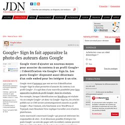 Google+ Sign In fait apparaitre la photo des auteurs dans Google