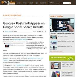 Google+ Posts Will Appear on Google Social Search Results
