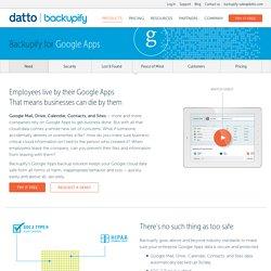Google Apps Backup: Restore & Back Up Google Apps