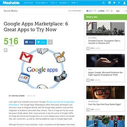 Google Apps Marketplace: 6 Great Apps to Try Now