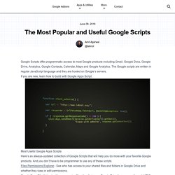 Google Apps Scripts Collection - Useful Scripts for Gmail, Forms and Google Drive