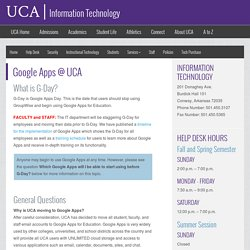 Google Apps @ UCA