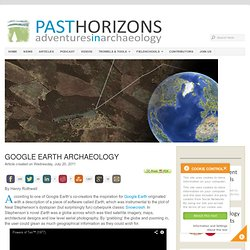 Google Earth Archaeology
