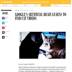Google's Artificial Brain Learns to Find Cat Videos