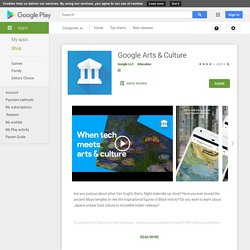 Google Arts & Culture – Applications Android sur GooglePlay