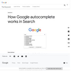 How Google autocomplete works in Search