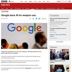 Google bans AI for weapon use
