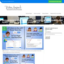 """Google Basics For Kids- 4 Steps to Sharing in Google Docs and Slides – Step 2 – """"Who Will I Share With?"""" – Robin Limpert"""