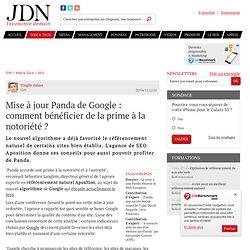 Mise à jour Panda de Google : comment bénéficier de la prime à la notoriété ? - Journal du Net Solutions