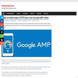 Google va bientôt exiger le HTTPS pour créer des pages AMP valides