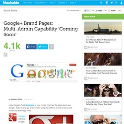 Google+ Brand Page Multi-Admin Capability Coming Soon