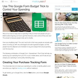Use This Google Form Budget Trick to Control Your Spending