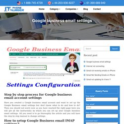 How to set up Google business email settings?