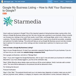 Google My Business Listing – How to Add Your Business to Google?