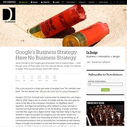 Google's Business Strategy: Have No Business Strategy