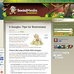 6 Google+ Tips for Businesses