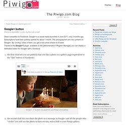 Piwigo : Google+ button