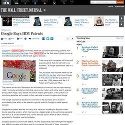 Google Buys IBM Patents