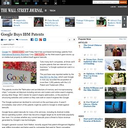 Google Buys IBM Patents