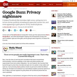 Google Buzz: Privacy nightmare