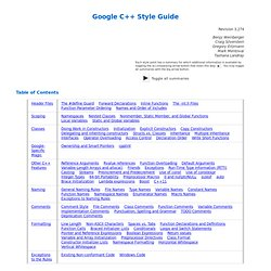 Google C++ Style Guide