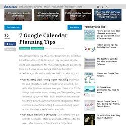 7 Google Calendar Planning Tips