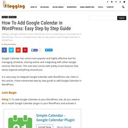 How To Add Google Calendar in WordPress: Easy Step by Step Guide