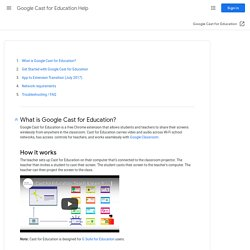 Google Cast for Education Help