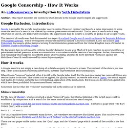 Google Censorship - How It Works