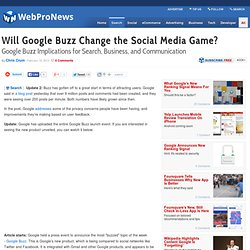 Will Google Buzz Change the Social Media Game?