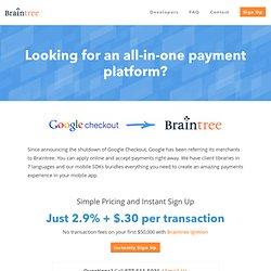 Google Checkout - Braintree
