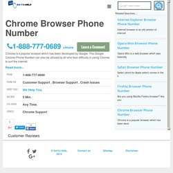 Chrome Browser Phone Number